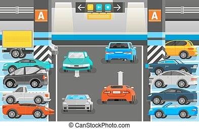 Underground Parking Illustration