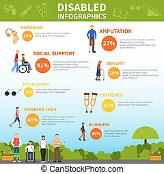 Disabled Infographics Layout - Disability infographics...