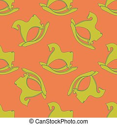 Seamless pattern with horse rocking toy - Seamless pattern...