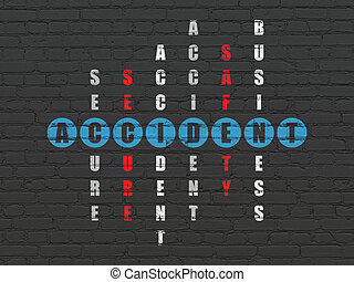 Insurance concept: Accident in Crossword Puzzle - Insurance...