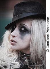 Grotesque girl