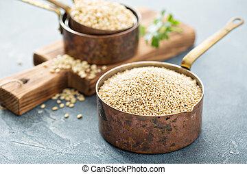 Gluten, libre, cocina, con, Quinoa,