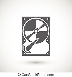 Hard drive icon - Hard drive disk icon. Data storage...