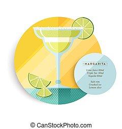 Margarita drink recipe menu for cocktail party - Margarita...