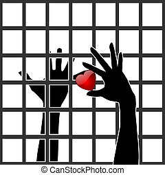 Love behind Bars - Two people in love in spite of one being...