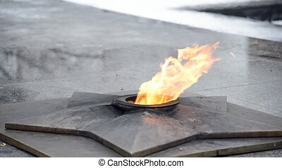 Eternal flame of the monument