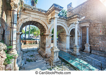 Hadrians Gate in old city of Antalya