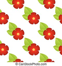 red flowers seamless - Seamless pattern with red, flowers on...