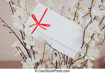 Gift card - closeup of a sign card. - Gift card - closeup of...