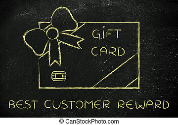 retailers gift card with bow, best customer reward - best...