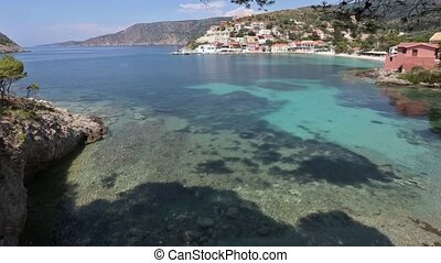 Summer Assos Village Coast (Greece, - Summer sea coast view...