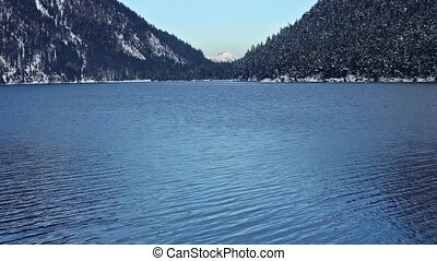 Plansee Lake (Austria) Winter View. - Plansee lake winter...