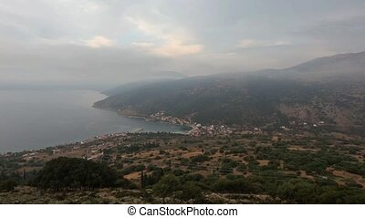 Summer Morning Kefalonia Coastline - Morning misty summer...