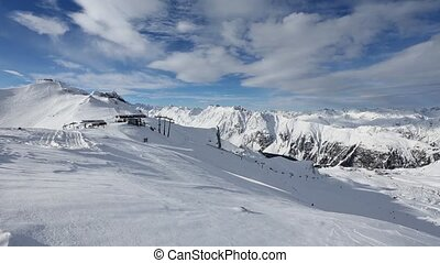 Silvretta Alps Winter View, Austria - Morning winter...