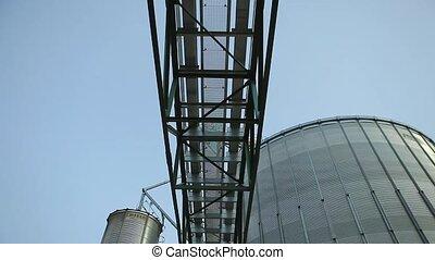 Granary Grain Elevators. Tanks for the storage of grain...