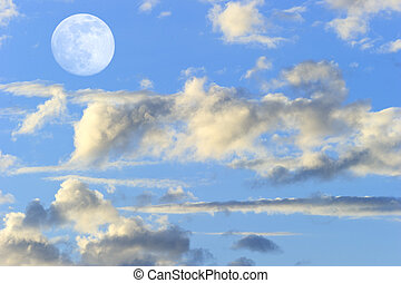 Moon Clouds - Moon clouds skies is a vibrant surreal fantasy...