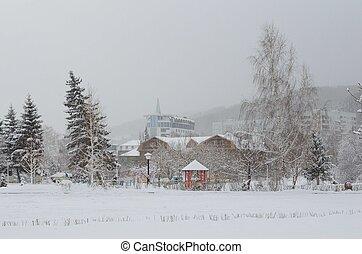 Sanatorium Belokuriha - Territory of Belokurikha sanatorium...