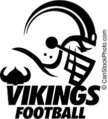 vikings football team design with helmet for school, college...