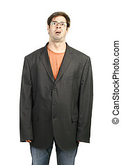 Funny Man in a Big black Suit