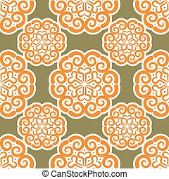 Kyrgyz pattern. Traditional national pattern of Kyrgyzstan....