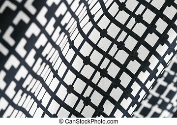 Black and White Cotton Texture Pattern - Photograph of light...