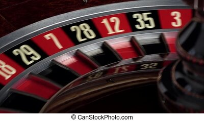 Roulette wheel starts running with white ball - Roulette...