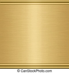 pure gold - large sheet of brushed gold with turned edging