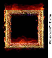 red hot fire frame