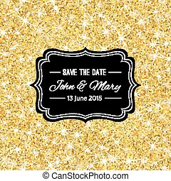 Perfect wedding template with golden confetti theme Ideal...