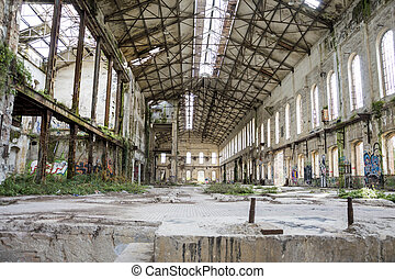 Old abandoned factory - abandoned metallurgical factory...