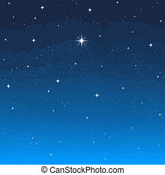 evening star - a single bright wishing star stands out from...