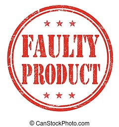 Faulty product stamp - Faulty product grunge rubber stamp on...