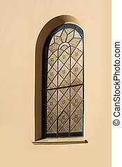 Window in an old architectural building