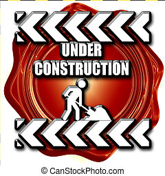 Under construction sign with some vivid colors