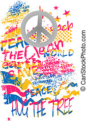 peace graffiti art banner
