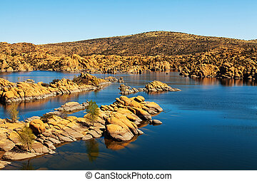 Watson Lake - Prescott Arizona USA - Scenic view of Watson...