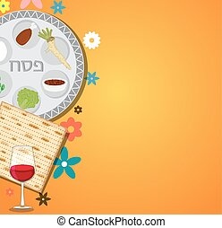 Passover dinner , seder pesach. background with passover...