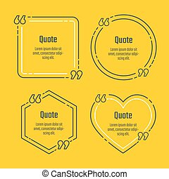 Quote blank template - Quote blank vector template set Quote...