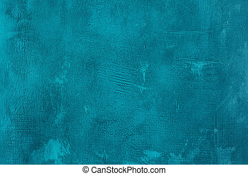 Old scratched and chapped painted blue wall Abstract...