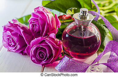 perfume with the scent of roses