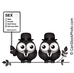 Market Research Sex - Monochrome comical Market Research...