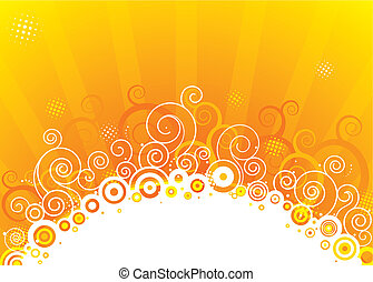 The Sun - Abstract sun design of vector illustration layered...