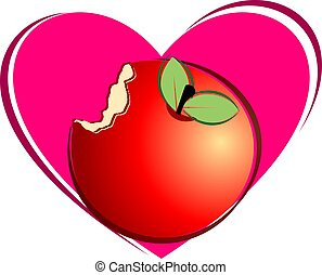 apple peace and love symbol