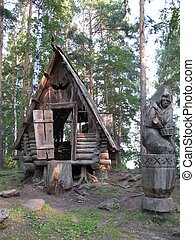 Baba-Yaga witch in Russian folk-tales