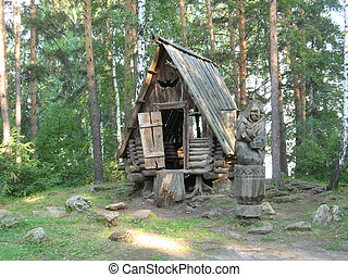 Baba-Yaga ( witch in Russian folk-tales )
