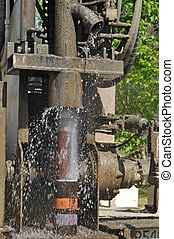 Drilling for water - Fresh bore water found using a drilling...
