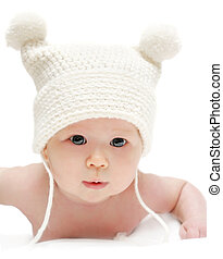 Newborn baby in the cap