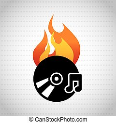 app burn cd design, vector illustration eps10 graphic
