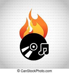 app burn cd design - app burn cd design, vector illustration...