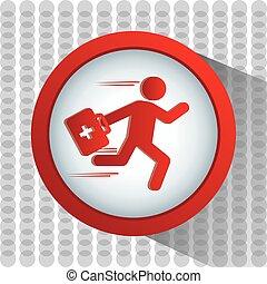 emergency service design - emergency service design, vector...